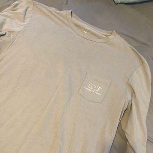 Men's Long Sleeve Vineyard Vines (Grey) Shirt